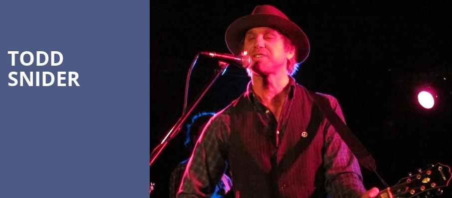 Todd Snider, Barrymore Theatre, Madison