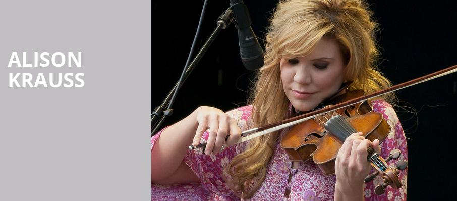 Alison Krauss, Orpheum Theatre, Madison